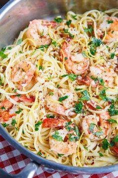 Shrimp Scampi. Sam and I both Loved this. Skipped the lemon zest.