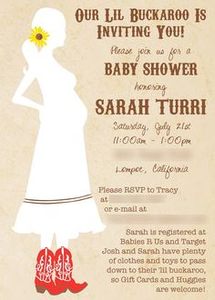 Western Baby Shower Invitation by Vibrant Imagery