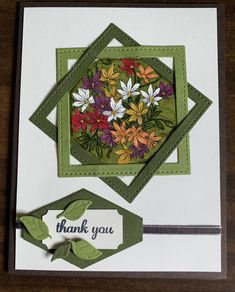Use Stampin up dies for squares? Fun Fold Cards, Folded Cards, Easy Cards, Making Greeting Cards, Greeting Cards Handmade, Stamping Up Cards, Card Making Techniques, Handmade Birthday Cards, Paper Cards