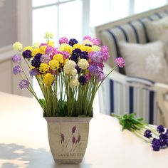 Aliexpress.com : Buy 5 heads American countryside small hydrangea ball artificial flower lavender bouquet home decoration silk  NO VASE free shipping from Reliable silk orchid suppliers on Lore 's Decoration Flowers Store. $38.99