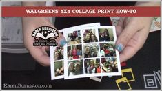 Karen shows how to use Walgreens online photo editor to create a collage print with photos that are sized perfectly for Die 1098 Photo Collage Pop-up ava.