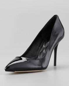 Malika Patent Pointed-Toe Pump, Black by B Brian Atwood at Neiman Marcus.
