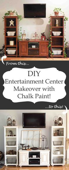 DIY Entertainment Center Makeover with Chalk Paint!