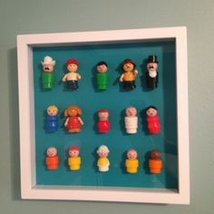 DIY Nursery Art  Old school!! My mom still has these guys from our baby toys