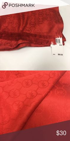 "MICHAEL Michael Kors wrap/scarf Jet Set Logo Jacquard wrap/scarf Measures approximately 48"" x80"" 100% Acrylic MICHAEL Michael Kors Accessories Scarves & Wraps"