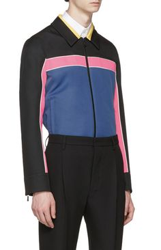 Valentino Multicolor Colorblocked Zip-Up Jacket  from SSENSE (men, style, fashion, clothing, shopping, recommendations, stylish, menswear, male, streetstyle, inspo, outfit, fall, winter, spring, summer, personal)