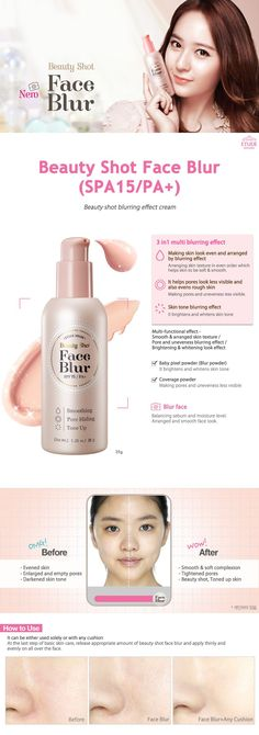 Etude House Beauty Shot Face Blur (SPA15/PA+) 35g - Etude House Beautynetkorea Korean cosmetic
