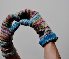 #free_pattern Striped Mittens  by Lena Gjerald