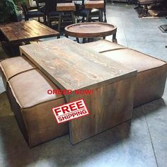 30 Ottoman Leather Coffee Table Ideas For Modern Living Room : 30 Ottoman Leather Coffee Table Ideas For Modern Living Room Coffee Table And Ottoman Combo, Leather Coffee Table, Coffee Table Rectangle, Ottoman Table, Large Coffee Tables, Coffe Table, Ottoman Decor, Footstool Coffee Table, Wooden Footstool
