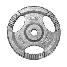 "1"" TRI-GRIP Cast Iron Disc Barbell Weight Plates - 20Kg"
