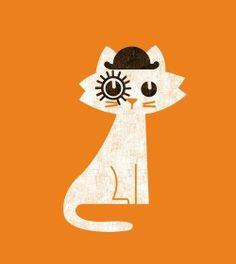 Ilustración - Gato (La naranja mecánica)