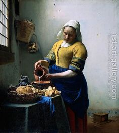 Jan Vermeer Van Delft:The Kitchen Maid