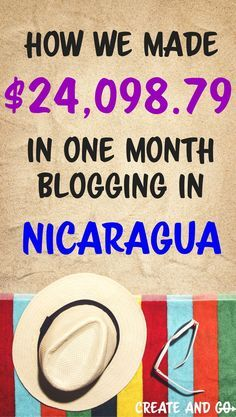 How we made $24,098.79 in one month blogging from home and how you can start a blog and make money online too!   Learn how to make money blogging at #createandgo