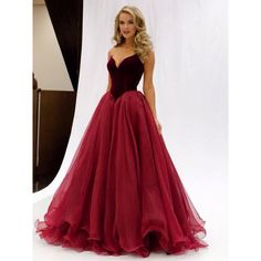 <B>1.+About+The+Details+Of+This+Dress</B>  Silhouette:+Princess Hemline:+Floor-length Neckline:+V-neck Fabric:+Organza Sleeve+Length:+Sleeveless Embellishment:+Ruffles Waist:+Natural Fully+Lined:+Yes Boning:+Yes Occasion:+Prom Straps:+Strapless Years:+2016 Trend+Collections:+Elegant...
