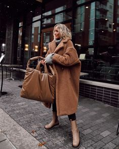 Photo shared by Mary Lawless Lee on November 30, 2020 tagging @marylawlesslee, @maxmara, @kassleditions, and @looks.like.summer. Image may contain: 1 person, standing and outdoor. Trend Board, Happily Grey, Furla, Mantel, Thrifting, Nordstrom, Denim, Sweaters, Jackets