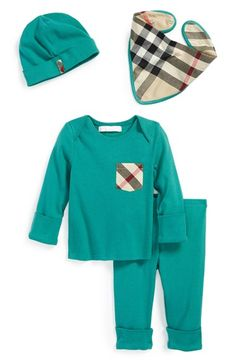 Burberry Cotton Four-Piece Baby Gift Set (Baby Boys) available at #Nordstrom