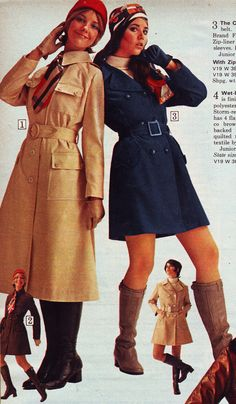 All sizes | Sears 1970 fw long and short coat | Flickr - Photo Sharing!  Cay Sanderson and Colleen Corby.