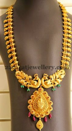 Jewellery Designs: Kirtilals Regal Peacock Haram