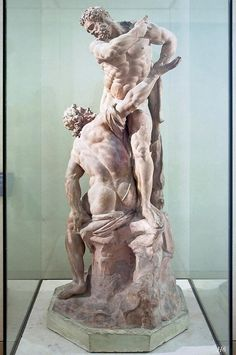 Hercules helps Atlas to support the earth. Michel Anguier, Louvre Museum.