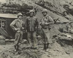 Graves Erskine (center) on Iwo Jima, 1945 | From the Graves B. Erskine Collection (COLL/3065) at the Archives Branch, Marine Corps History Division  OFFICIAL USMC PHOTOGRAPH