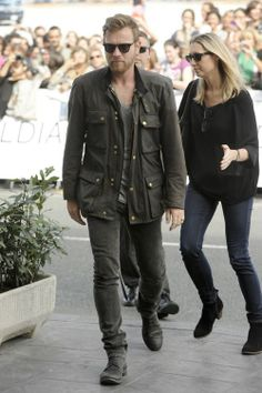 Ewan looking cool in Belstaff