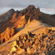 Mount Kenya bathed in dusk (a rare photo without any filters)