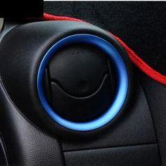 [ 41% OFF ] Accessories Blue Fit For 2012 2013 2014 Nissan Versa Almera Chrome Air Vent Cover Trim Surround Molding