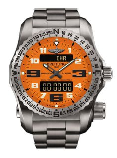 @breitling Watch Emergency II Orange #alarm-yes #bezel-bidirectional…
