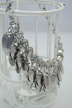 Stainless Steel Captured Swarovski Crystal by GutsyGirlJewelry