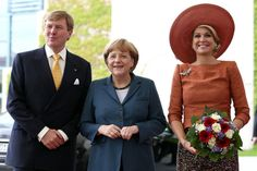 King Willem-Alexander and Queen Maxima meets with German Chancellor Angela Merkel at the Chancellery  in Berlin
