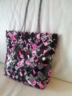 Candy wrapper bag. paper bag by LemondedeMinu on Etsy https://www.etsy.com/listing/219694451/candy-wrapper-bag-paper-bag