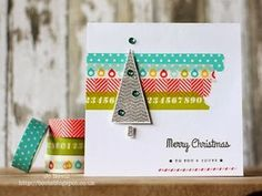 Holiday cards with washi tape. . .