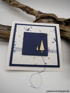 papierkunst: Weihnachtskleckse #1