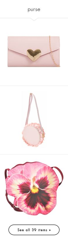 """purse"" by bloomly-bee on Polyvore featuring bags, handbags, clutches, bolsas, purses, pink, envelope purse clutch, pink clutches, envelope clutch bag e man bag"