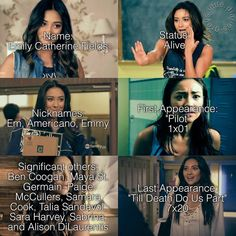 She has had more boyfriends than minutes of life Pretty Little Liars Quotes, Pretty Little Liers, Pll Memes, Pll Quotes, Emily Fields, Caroline Forbes, Scandal Abc, Best Shows Ever, American Horror