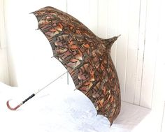 Vintage Pagoda Umbrella Pagoda Parasol by SummerHolidayVintage, $90.00 Paper Umbrellas, Umbrellas Parasols, Pagoda Umbrella, Ain't No Sunshine, Vintage Umbrella, Yarn Bombing, Photo Accessories, Wood Pieces, Black Wood