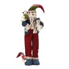 Plush Standing Snowmen Figurine
