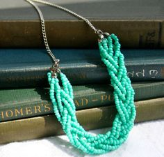 Simple way to make bracket and necklace from beads