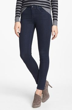 Love these jeans. Great length, fits hips and waist well. kensie 'Ankle Biter' Skinny Jeans (Black Metal)