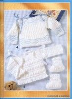 "Photo from album ""Muestras y Motivos on Yandex. Baby Sweater Knitting Pattern, Baby Knitting, Knitting Patterns, Baby Jessica, Baby Barn, Crochet Baby Clothes, Crochet Magazine, Little Girl Outfits, Baby Cardigan"