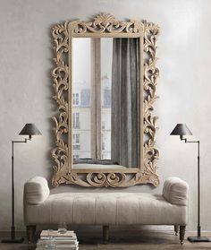 Restoration Hardware ...small spaces collection | dramatic look for the front entry dD