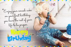 106 Wonderful Birthday Wishes And Messages For Babies You may not remember the flavor of your first birthday cake, but you will always feel the warmth and love that your parents put into making it a special one Great Birthday Wishes, Birthday Cake Quotes, 1st Birthday Message, Sister Birthday Quotes, Half Birthday, Happy Birthday Messages, Happy Birthday Funny, Happy 1st Birthdays, Boy First Birthday