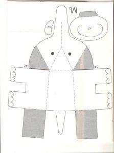 3d elephant template