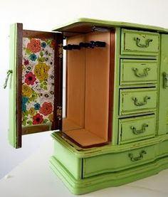 Repurposed Vintage Jewelry box by Happy Day Vintage