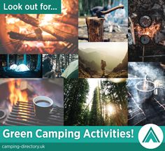Green camping activities. Things to do. Camping. Campsites. Outdoors. Nature. Holidays.
