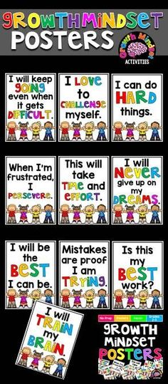 DIY your photo charms, compatible with Pandora bracelets. Make your gifts special. Make your life special! Growth Mindset Motivational Posters - Learn how I made it to in one months with e-commerce! Growth Mindset Classroom, Growth Mindset Activities, Growth Mindset Posters, Classroom Displays, Classroom Organization, Classroom Management, Classroom Seats, Classroom Borders, Classroom Door