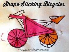 Playful Learners: Shape Sticking Bicycles