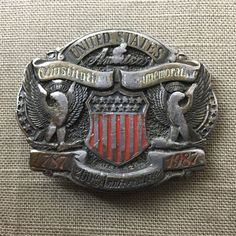 American Constitution Commemorative Belt Buckle 1987 Limited Edition A35702 #Merica #USA