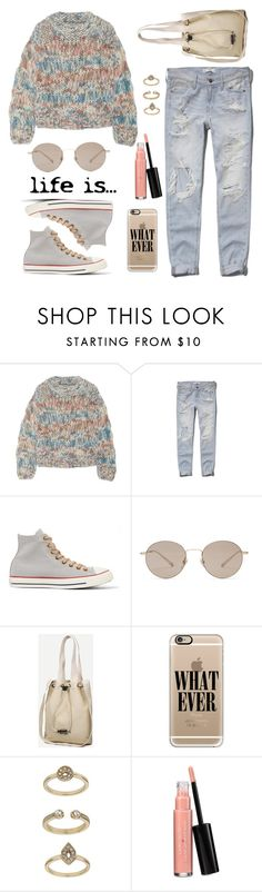 """About a girl / Inspired by grunge style"" by nicolesynth on Polyvore featuring Chloé, Abercrombie & Fitch, Converse, Gucci, Casetify, Topshop and Laura Geller"