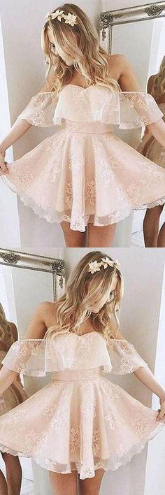 Prom Dresses For Teens, Cute Prom Dresses, Short Homecoming Dresses, Lace Prom Dresses, Cheap Homecoming Dress, Short Homecoming Dress #Short #Homecoming #Dresses #Dress #Cheap #Cute #Prom #Lace #For #Teens